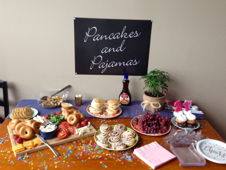 Pancakes and Pajamas Birthday Brunch Party