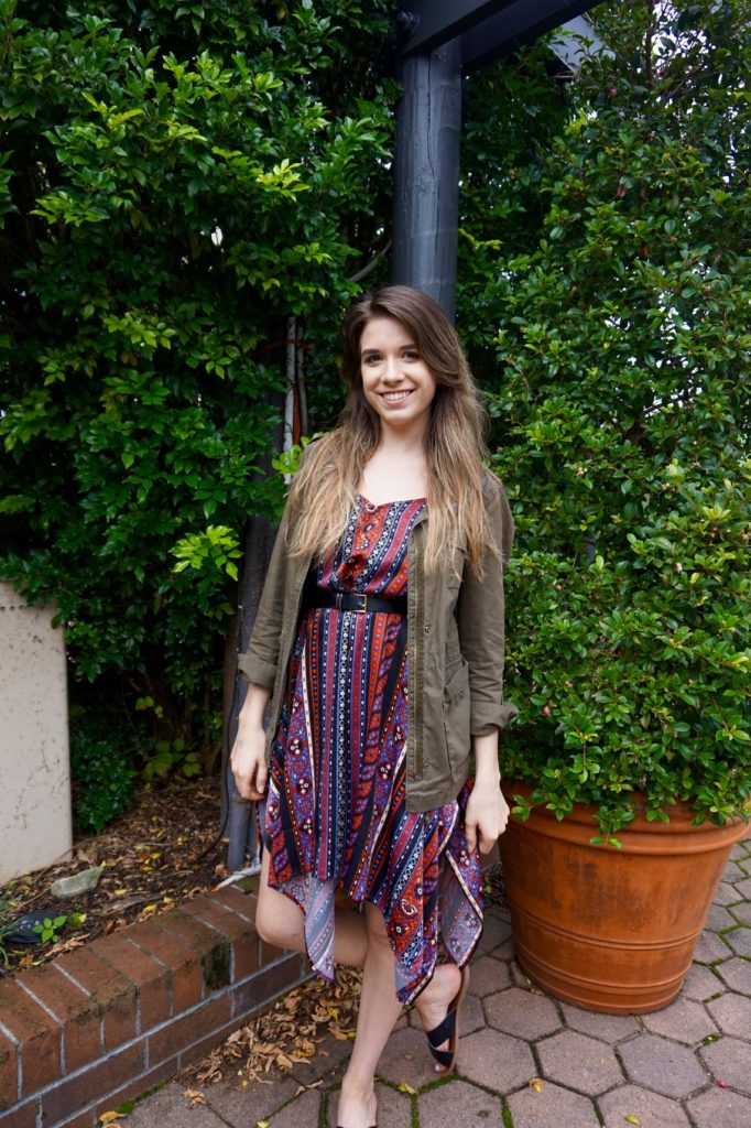 Outfit of the Day: Red and Plum Boho Dress